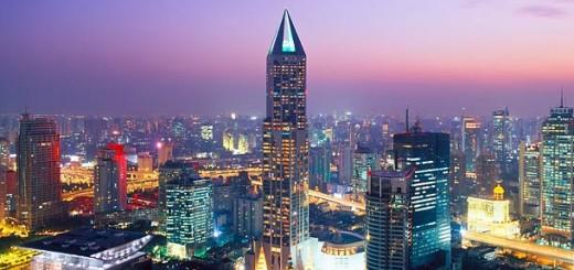 Shanghai skyline w Marriott