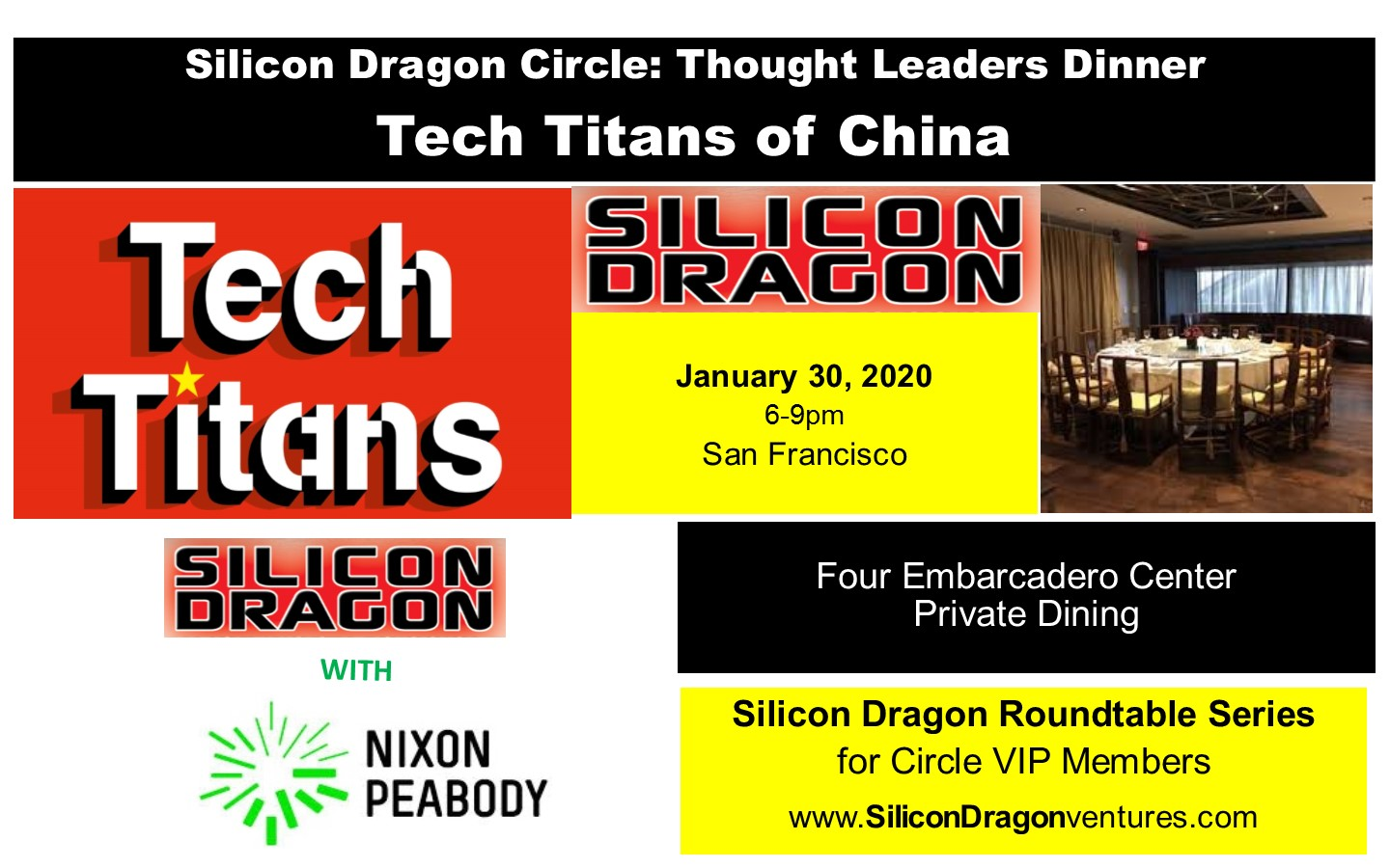 Silicon Dragon Circle Dinner: San Francisco