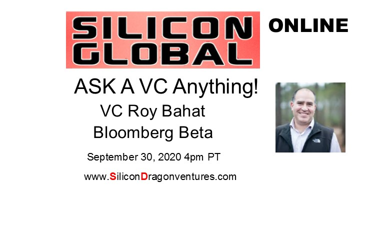 Ask A VC Anything: VC Roy Bahat, Bloomberg Beta @ Online