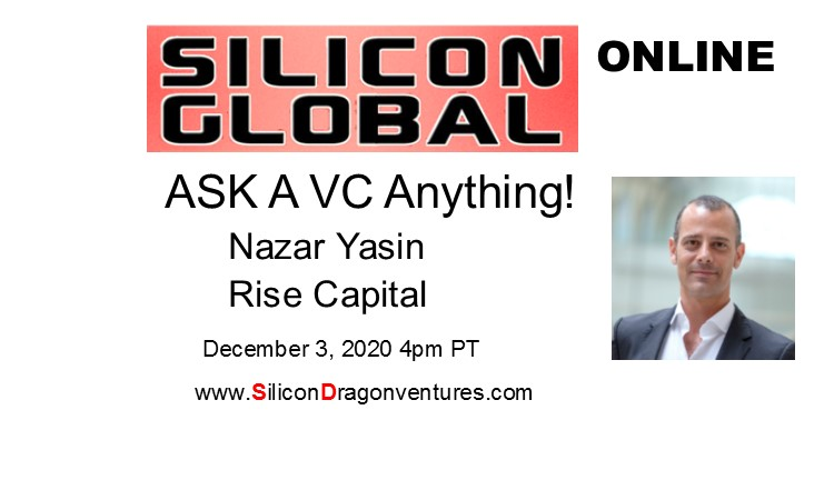 Ask A VC, Nazar Yasin, Rise Capital @ Online
